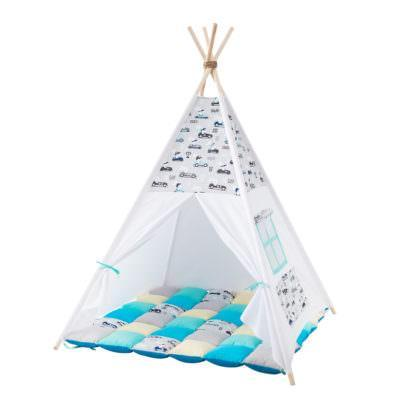 Cort teepee + saltea Rabbit Race Gray