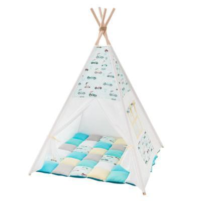 Cort teepee + saltea Rabbit Race Mint