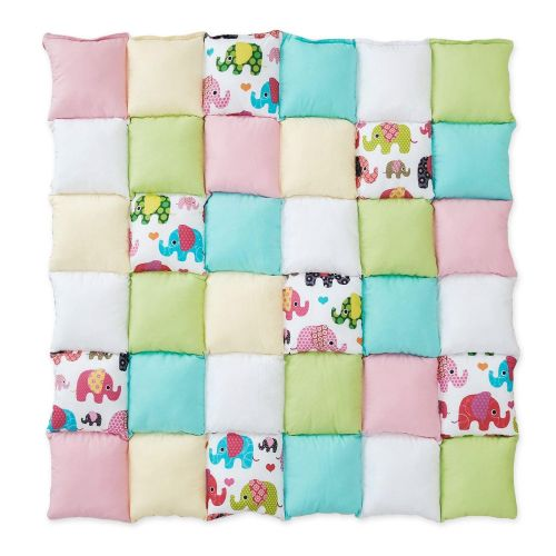 Saltea Patchwork Pink Elephants
