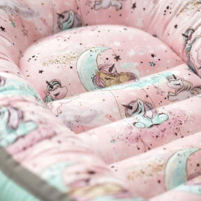 Baby Nest Dreamy Unicorns (pink)