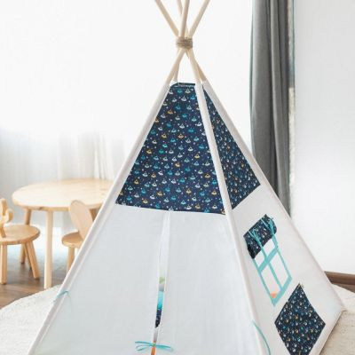 Cort teepee + saltea Space Ships (glow in the dark)